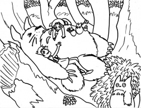 Totoro From My Neighbor Totoro Coloring Pages Coloring Home