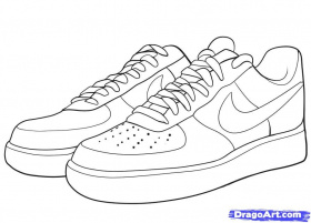 S Jordan Shoes Drawings Clipart - Free Clipart | Brands ...