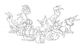 Printable Pokemon Coloring Pages Eevee Evolutions For Kids And ...