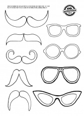 Best Photos of Eye Glass Templates Printable - Glasses Template ...