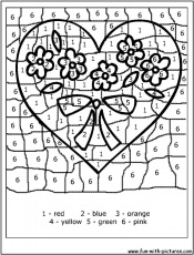 Valentine Coloring Pages By Numbers