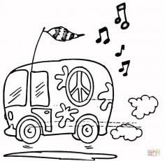 VW Bus coloring page | Free Printable Coloring Pages