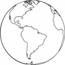World Map Coloring Page Pages