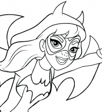 The best free Batgirl coloring page images. Download from ...