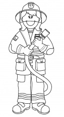 25+ Amazing Image of Fireman Coloring Pages - davemelillo.com | Firefighter  clipart, Firefighter pictures, Firefighter