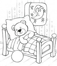 sleep coloring pages sleeping teddy bear coloring pages sleepover party coloring  pages | Bear coloring pages, Teddy bear coloring pages, Teddy bear drawing