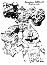 Decepticon Barricade | Coloring books, Coloring pages for boys,  Transformers coloring pages