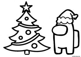 Best Among Us Christmas Coloring Pages | Screen Rant