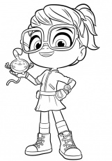 Abby Hatcher Coloring Page - Free Printable Coloring Pages for Kids