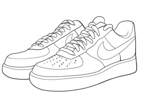 Nike Sneaker Colouring Pages for Adults Pictures - Ecolorings.info