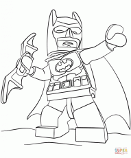 Lego Batman coloring page | Free Printable Coloring Pages