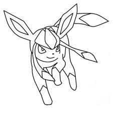Glaceon Pokemon coloring page