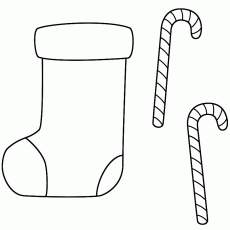 Coloring Pages For Christmas Stockings - Coloring Page