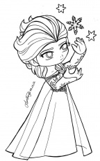 Chibi Frozen Coloring Pages - Coloring Pages For All Ages