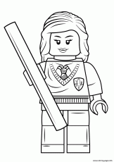 Print lego hermione granger harry potter Coloring pages Free Printable