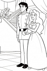 Ariel And Eric Printable Coloring Pages - Coloring