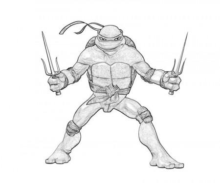 11 Pics of TMNT Coloring Pages On Raphael - Raphael Ninja Turtle .