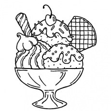 The best free Dessert coloring page images. Download from 56 free ...