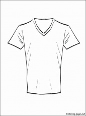 T Shirt Coloring Page Awesome Blank T Shirt Drawing at Getdrawings in 2020  | Shirt drawing, Blank t shirts, Colorful shirts
