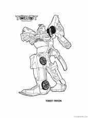 Tobot Coloring Pages TV Film Tobot 4 ...coloring4free.com