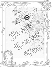Jesus Loves Me Printable - Coloring Pages for Kids and for Adults