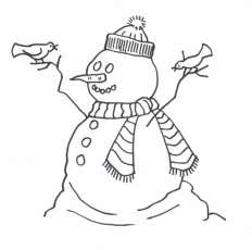 Frosty The Snowman Coloring Page - HD Printable Coloring Pages
