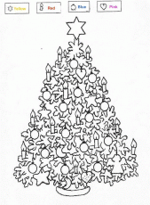 Christmas Tree Coloring Pages - Picture 4 – Christmas Tree