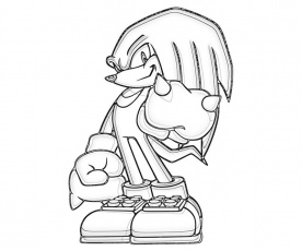 knuckles coloring pages