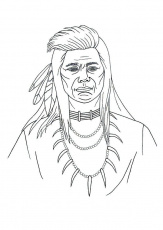 Free Native Indian Printable Color Pages - Jagged Edge