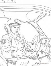 Policeman Coloring Page : Printable Coloring Book Sheet Online for