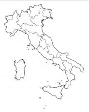 map of italy printable