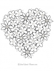 Heart Flower Printable Coloring Pages | Alfa Coloring PagesAlfa