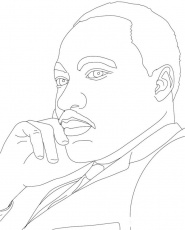 Martin Luther King Was Thinking Hard Coloring Pages - Figure