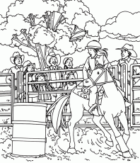 Barrel Racing by Sally Springer - Hidden Pictures™ Puzzles