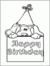 Happy Birthday From Blues Coloring Page | Kids Coloring Page