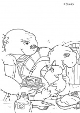 FRANKLIN coloring pages - Franklin with grandma
