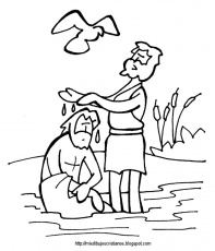 jesus baptism coloring pages