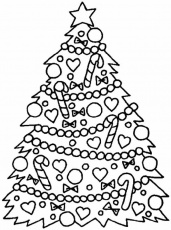 Christmas Tree Coloring Pages Printable #