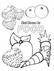 God gave us food coloring page