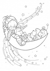 rainbow bright coloring pages