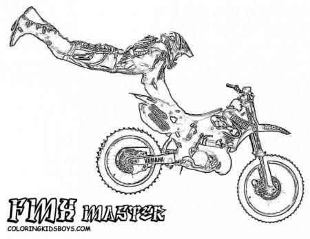 dirt bike coloring page 2361 free 108662 dirt bike coloring pages - Dirt Bike Coloring Pages