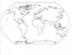 Map Of World Coloring Page For Kids Printable Coloring Sheet