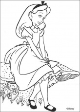 Alice in Wonderland coloring pages - Alice 15