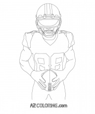Dallas Cowboys Coloring Page For Kids