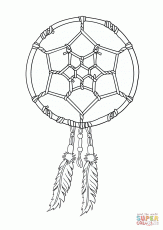 Native American Dreamcatcher coloring page | Free Printable ...