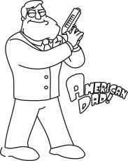 American Dad Coloring Page Coloring Home