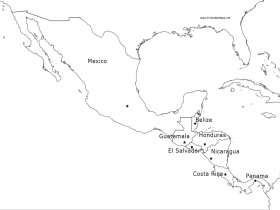 Latin america class outline car pictures coloring home for Mexico map coloring page