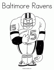 Baltimore Ravens Coloring Page - Twisty Noodle