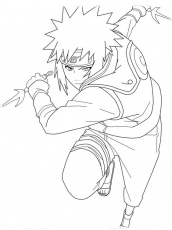 Minato Is Fighting Coloring Page - Free Printable Coloring Pages for Kids