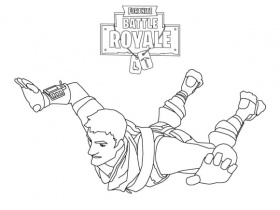 Fortnite Coloring Pages Parachute - Coloring Page Base